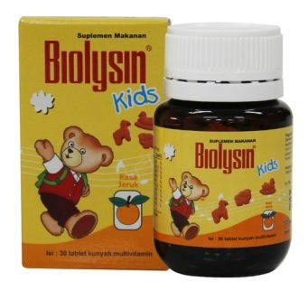 Suplemen Kesehatan BIOLYSIN KIDS ORANGE 1 biolysin_kids_jeruk_002